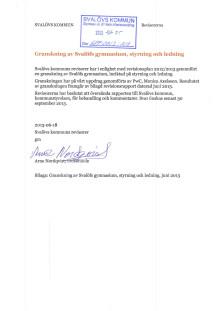 Granskningsrapport av Svalöfs gymnasium