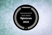 Telia nominerad som Årets nyhetsrum 2016