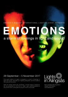 Emotions is the theme for this years´s Lights in Alingsås
