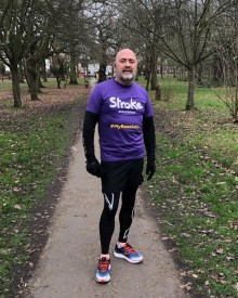 ​Local stroke survivor marks a milestone in his recovery with the Stroke Association