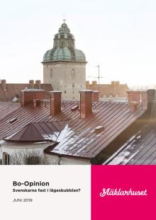 Mäklarhuset Bo-Opinion om lägesbubblan. Juni, 2019