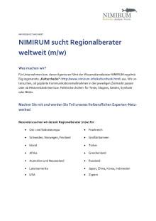 NIMIRUM Ausschreibung Regionalberater