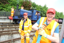 "Virgin Trains' ""steam team"" lays new foundations at world's first commercial railway"
