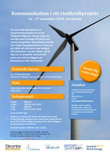 Inbjudan Kommunikation i ett vindkraftprojekt