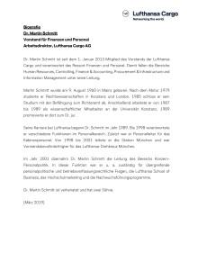 Biographie Dr. Martin Schmitt - CFO Lufthansa Cargo (Deutsch)