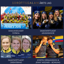 Nominerade Årets Lag, Årets Prestation och Årets Ledare Idrottsgalan 2020.