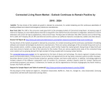 Connected Living Room Market : Outlook Continues to Remain Positive by 2016 - 2024