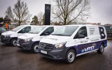 Mercedes levererar första elektriska transportbilen till svenska kunder