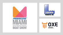 OXE Diesel displayed at Miami International Boat Show by Laborde Products Inc.