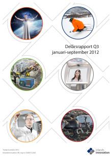 Inlandsinnovations delårsrapport januari-september och tredje kvartalet 2012