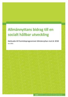 Allmännyttans bidrag till socialt hållbar utveckling