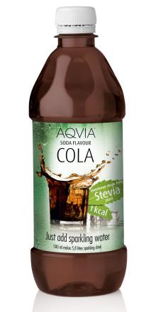 Cola – ny smak i AQVIA:s steviasortiment