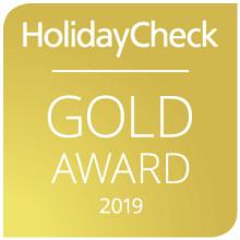 Das DolceVita Hotel Feldhof gewinnt bereits zum dritten Mal den berühmten HolidayCheck Gold Award