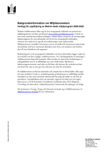 Bakgrundsinformation om Miljöbarometern