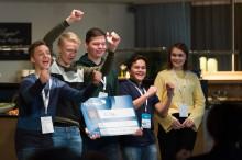 Elever fra Herøy videregående skole med glimrende idé til sjømatnæringen!