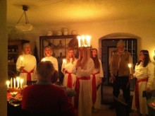 Luciafirande i Svalbo med KAN-kören