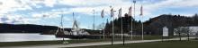 Första båten som lossas vid vår egen kaj i Uddevalla