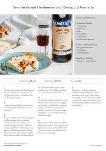 REZEPT: Semifreddo mit karamellisierten Haselnüssen und Ramazzotti Amaretto