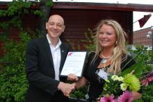 Ida Backlund främsta unga företagare i norra Sverige