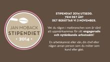 Jan Moback-stipendiaten 2014 utsedd. Vem? Det avslöjas 3 november.
