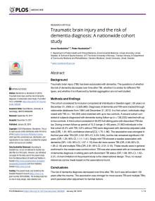 Engelsk sammanfattning av studie TBI and dementia diagnosis