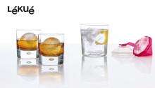 Gör drinkarna festliga med stora isbollar och isdiamanter från Lékué