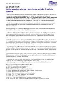Kulturhuset i Ytterjärna 20 års-jubileum