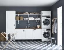 Klassisk tvättstuga med funktionella lösningar