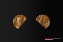 Sjældent fund af romersk guldmønt syd for Aarhus