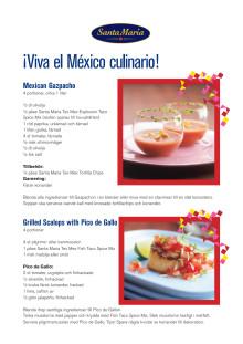 Receptfolder - Mexikansk fredagsmeny