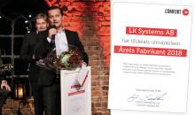 LK utsedd till Årets Fabrikant av Comfort