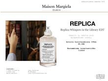 Lehdistötiedote Maison Margiela Replica Whispers in the Library
