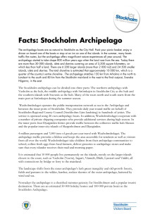 Facts: About the Stockholm Archipelago