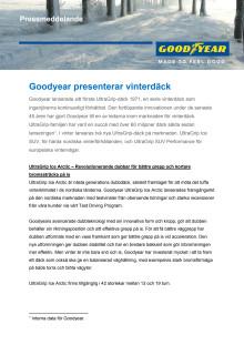 Goodyear presenterar vinterdäck - pressmeddelande