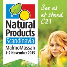 Natural Products Malmö 1-2 november 2015, monter C21