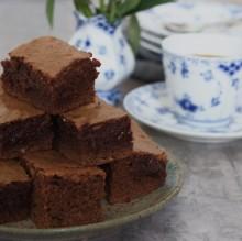 Brownie med kaffe – en chokoladedrøm!!