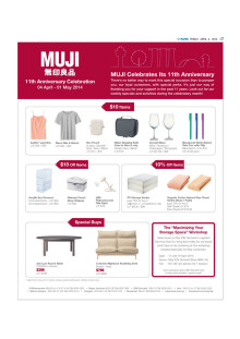 Edits Inc featured in Muji's 11th anniversary marketing campaign, 04 Apr 2014