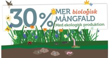 30 procent mer biologisk mångfald på ekogårdar