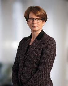 Kerstin af Jochnick, förste vice riksbankschef, talar på Business Arena