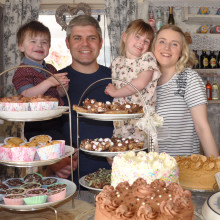 Parents of little boy born with life-threatening condition continue to thank charity by taking part in Big Chocolate Tea fundraiser