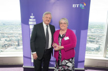 Maddie wins national BT award for her tireless work helping Plymouth's homeless and hungry