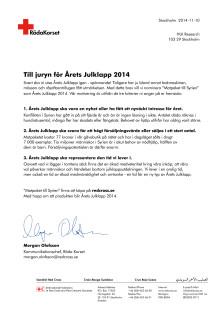 Brev till juryn för årets julklapp 2014