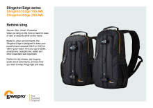 Lowepro Slingshot Edge, specifiaktioner