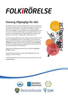 Folkhälsoseminarium: Simning tillgängligt för alla!