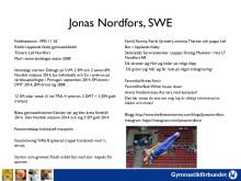 Fakta om Jonas Nordfors