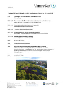 Program för besök från Biosfärområde Mön