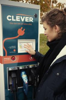 Kalmar Energi och CLEVER etablerar nya laddstationer för elbilar