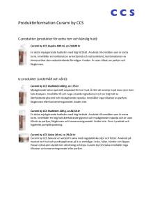 Produktblad och priser Curami by CCS