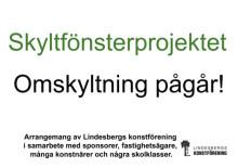 Dags för nya konstverk i Lindesbergs skyltfönster