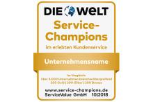 Das sind Deutschlands Service-Champions 2018